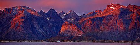 Southern Greenland at dusk