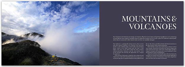 Majestic New Zealand book by Rob Suisted, pages 14-15