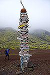 Jan Mayen Island signpost