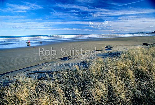 Makorori Beach, north of Gisborne, Gisborne, Gisborne District, Gisborne Region, New Zealand (NZ) stock photo.