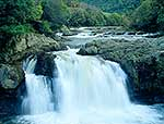 Motu River waterfalls