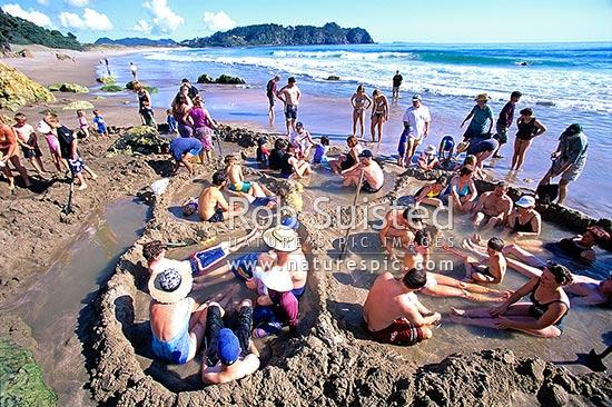 pools at Hot Water Beach  Hot Water Beach Waikato