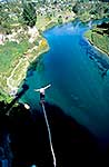 Bungy jumping above Waikato River