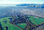 Aerial shot over Christchurch