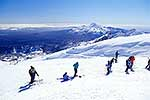 Skiers and snowboarders Mt Ruapehu
