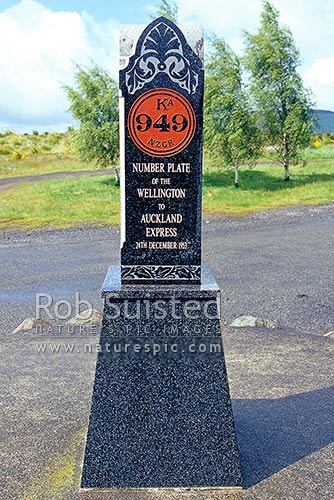 Memorial for Tangiwai train disaster of 24/12/1953 that took 151 lives in Whangaehu River, Waiouru, Ruapehu District, Manawatu-Wanganui Region, New Zealand (NZ) stock photo.