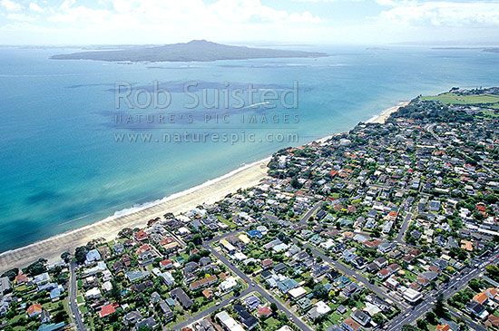 Looking over takapuna beach to rangitoto channel and for Landscape design west auckland