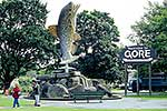 Gore's giant trout statue