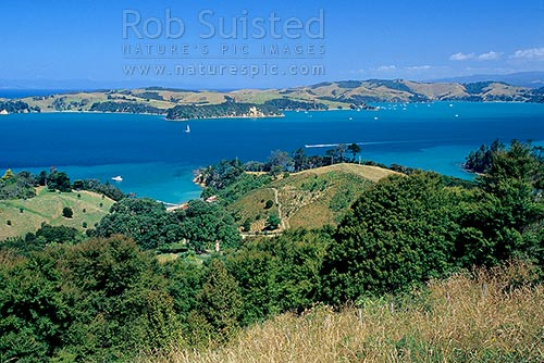 Looking Across The Waiheke Channel To Ponui Island From