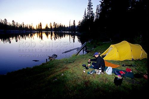 Hiking In Yosemite National Park Camping At Sunrise Lakes