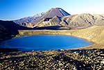 Blue Lake and Mt Ngauruhoe
