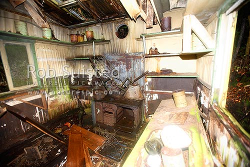 Remains Of The Kitchen At The Wwii Coastwatchers Station