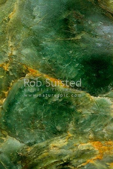 bowenite greenstone  jade  pounamu stone from anita bay