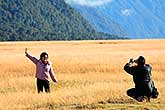 Tourists in Fiordland