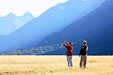 Asian tourists in Fiordland