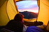 Alpine sunrise from tent