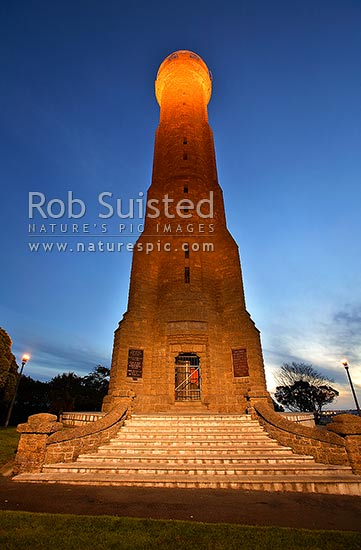 Durie Hill Memorial Tower, Wanganui City, Wanganui District, Manawatu-Wanganui Region, New Zealand (NZ) stock photo.