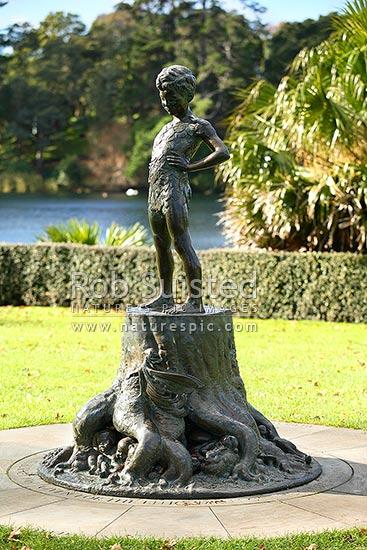 Peter Pan Sculpture At Virginia Lake By Cecil Thomas