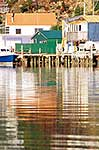 Boat shed reflections