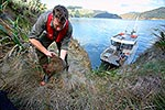 Weka being moved to Blumine Island