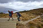Arriving at Kepler Track Hut