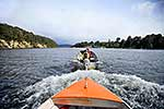 Boat towing dinghy, Fiordland