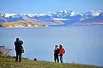 Overesas tourists, Lake Tekapo