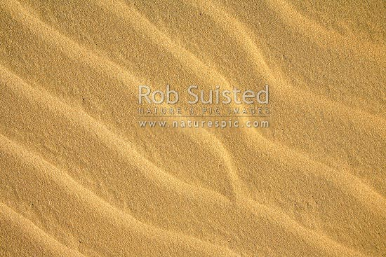 Sand dune textures and ripples, Te Paki, Cape Reinga, Far North District, Northland Region, New Zealand (NZ) stock photo.