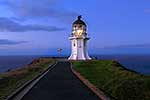 Cape Reinga lighthouse at dusk