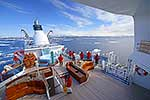 Antarctica cruise ship on icy sea