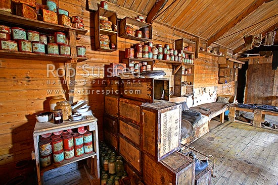 Kitchen Area With Food Supplies In Ernest Shackleton S