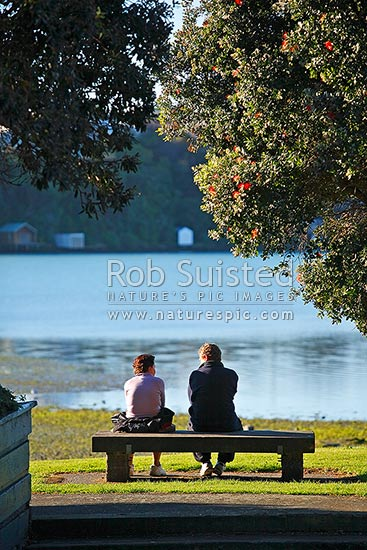 Two People Sitting Contemplating And Talking On A Park