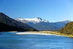 Haast River and rugged mountains