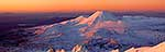 Mt Ngauruhoe sunset panorama