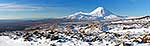 Icy view of Ngauruhoe, Tongariro NP
