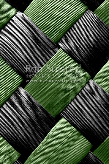 Traditional Indigenous Maori Weaving Of Flax Leaves And