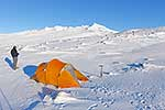 Camping in the snow at Ruapehu