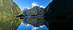Snow covered peaks, Milford Sound