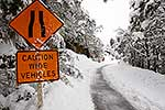 Hazardous winter road