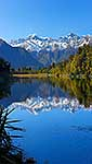Mountains reflected in Lake Matheson