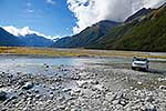 4x4 crossing braided river