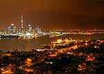 Night skyline of Auckland CBD
