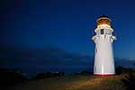 East Cape lighthouse at night
