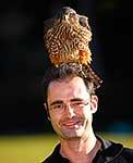 Rob Suisted and NZ falcon