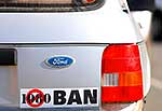 1080 poison protest sticker