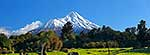 Mt Taranaki in winter panorama