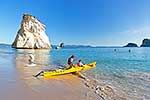 Cathedral Cove with sea kayakers