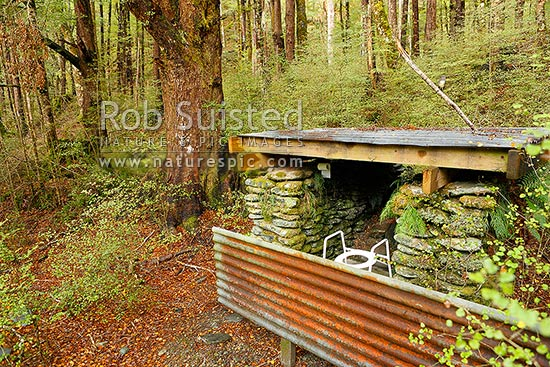 Outdoor Toilet And Rustic Bathroom In Beech Forest Pell