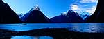 Mitre Peak and Milford Sound winter