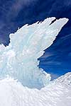 Wind sculptured ice